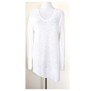 EILEEN FISHER V Neck Tunic Knit Sweater
